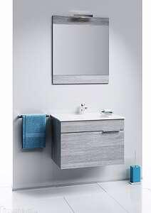 Серая мебель для ванной комнаты