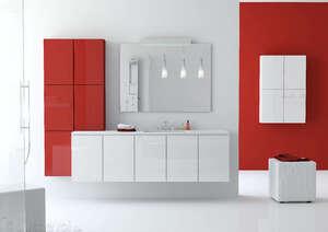 Оранжевая мебель для ванной комнаты
