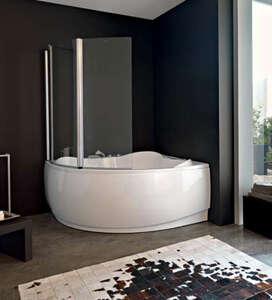 Стеклянные шторки для угловых ванн