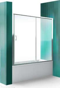 Стеклянные прозрачные шторки для ванной